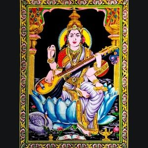 Goddess Saraswati Tapestry PRICE REDUCTION